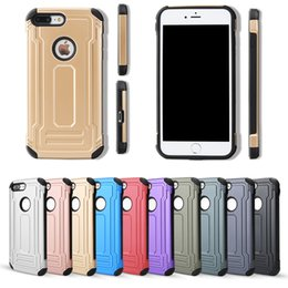 Wholesale Two Phones One Case - Defender Back cover phone case For iPHONE 5 IPHONE 6 IPHONE 7 2 in 1 two in one Phone Case