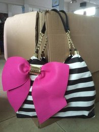Wholesale Bowknot Chain Bag - Wholesale-Fashion pink quilted bowknot women chain bags women handbag