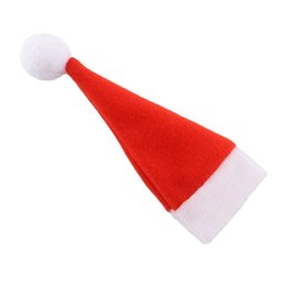 Wholesale Home Decor Items Wholesaler - Wholesale-Red Santa Hat Christmas Spoon Fork Bags Tableware Silverware Holders Pocket Dinner Home Party Table Decor*Christmas items