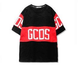 Wholesale Tshirts Panel - 2017 GCDS Patchwork Men T shirts O-neck Oversized Brand Kanye West Streetwear Tee Shirts Men Women GCDS Tshirts Men