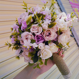 Wholesale Cheap Wedding Suppliers - Lavnder and Blush Bridal Bouquets High Quality Garden Style Wedding Suppliers Wedding Flowers 2017 New Arrival Cheap