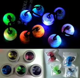 Wholesale Big Plastic Beads Wholesale - LED Flashing Thumb Chucks Control Roll Game Finger Yo-Yo Ball Fidget Beads 4 Colors Thumb Chucks ADHD Anti Stress Novelty Toys