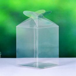 Wholesale Cupcake Box Clear - Wholesale-Simple Clear PVC Cupcake Boxes Plastic Cake Box Free Shipping 12pcs
