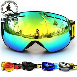 Wholesale Ski Mask Glass - [NaturalHome] Brand Ski Goggles Double UV400 Anti-fog 2016 Ski Mask Glasses Skiing COPOZZ Men Women Snow Snowboard Goggles Lens