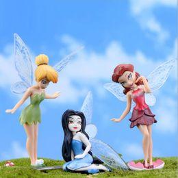 Wholesale Vinyl Dolls Wholesalers - 6 Pcs Set Flower Fairy Figurine Cartoon Angel Miniature Fairy Garden Landscape Ornament Fondant Cake Decor Baking Tool