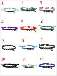 """Wholesale Handmade Leather Bracelets For Men - Handmade Lover Bracelet """"HIS and HERS"""" Charm Bracelets For Women Men Braided Weaving Adjustable Couple Bracelet Valentine's Gift"""