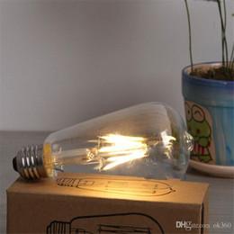 Wholesale 4w Led Light Bulb - NEW E27 4W 6W 8W Bombillas AC110-220V COB LED Bulb Filament Led Bulb Christmas Lights Home Lighting Ultra Bright LED Filament Bulbs