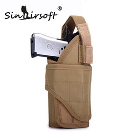 Pistole pistole online-SINAIRSOFT Tactical Pistol Holster Utility Regolabile Airsoft Hunting Pouch Tornado multiple MOLLE Vertical