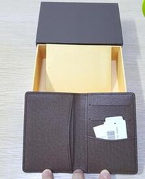 Wholesale Folding Business Cards - Pocket Organiser new famous fashion designer leather credit card holder high quality classic purli folded notes and receipts bag wallet purs