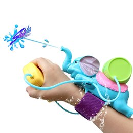 Wholesale Mini Toys Gun - Baby Bath Toys for Children Kids Swimming Pool Bathroom Beach Toys Elephant Water Blaster Spraying Gun Cannon Sand Water Fight