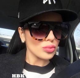2019 vetri dell'annata oversize all'ingrosso All'ingrosso-HBK Oversize Vintage Kim Kardashian Occhiali da sole stile donna Design di marca Vintage Square Occhiali da sole Oculos De Sol Feminino Ombra vetri dell'annata oversize all'ingrosso economici