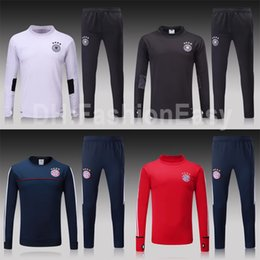 Wholesale Germany Suits - Thailand Soccer tracksuits 17 18 Best quality survetement football muniches Germany training suit sweat top chandal soccer jogging sportwear
