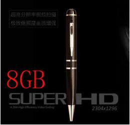 Caneta de câmera 8g on-line-Câmera da pena de bola da memória do porto de Detetction HDMI do movimento de 8GB 2K HD 1296P h.264, câmera da pena 1080p