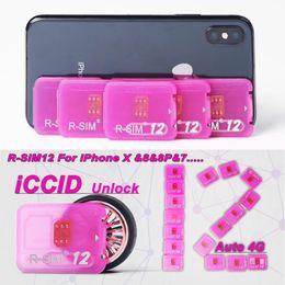 Wholesale Ios Sim Unlock - R sim 12 rsim12 rsim sim12 ios 11 ios11 ios 10.x ICCID Unlocking for iPhoneX,iphone 8,8PLUS 7,7plus 4G
