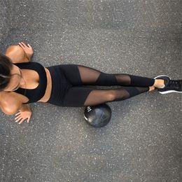 Wholesale Stirrup Pants For Women - NCLAGEN 2017 New Women Mesh Black Transparent Comfortable Pant Sexy Slim Fit Trousers Stirrup Workout Leggings For Wome Size S-L