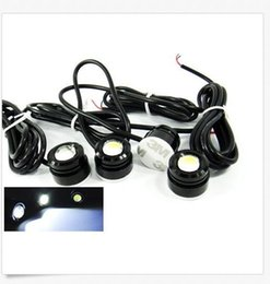 Wholesale high power drl - 23MM High Power White 3W LED Eagle Eye Under Car body Lamp DRL Fog Light Motorcycle