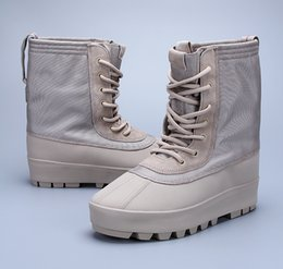 """Wholesale Sport Med - Kanye west Season 2 """"Crepe"""" Boot Taupe US KM1011 350 750 950 Kanye Pablo Ovo running shoes outdoor boots Sports shoes"""