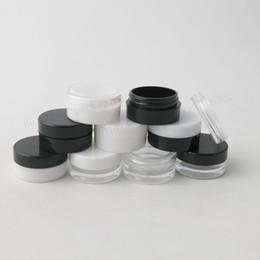 Canada 100 X 1g Mini Bouteilles Rechargeables Voyage Visage Crème Jar Petit Récipient Cosmétique Récipient En Plastique Vider Échantillon Pot De Maquillage Offre