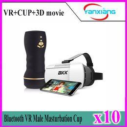 Wholesale Reality Sex - 10pcs 3D VR Glassesl Male Masturbator Virtual Reality Interactive Sex Toys for Men Realistic Vagina Masturbation Cup YX-FV-01
