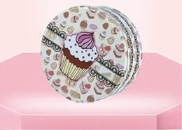 Scatole di latta modellate online-Grande scatola rotonda di biscotti scatole di latta 198 * 198 * 90mm bellissimo modello di imballaggio alimentare confezione regalo vaso di tè barattolo di caramelle