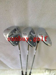 Wholesale Vokey 52 - New Sale Golf VOKEY SM6 Wedge 52   56   60 Degree With Steel Shaft Golf Silver Color SM6 Wedge Set Clubs 3PCS