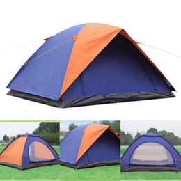 tenda inflável de cubo Desconto Barraca de Acampamento 2 Pessoas Oxford Impermeável 200 (L) X 150 (L) X 100 (A) cm Família de Camadas Duplas Pinic Camping Pop up Caminhadas Praia Tenda