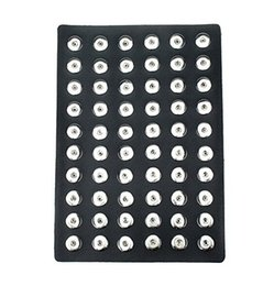 Wholesale Stands For Jewelry Display - Noosa Snap Jewelry High Quality Black Leather Snap Display for 60PCS 18mm Snap Metal Buttons Soft Display Stand