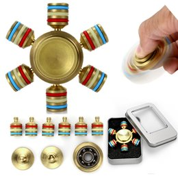 Wholesale Toys For Lovers - 2017 New Arrival For Kids Adults DIY Lovers Decompression Toys 6 Heads Hexagon Six Angles Metal Fidget Spinners Hand Spinner Handspinner Toy