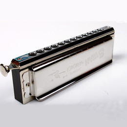 Wholesale Swan Mouth Harmonica - wholesale SWAN Chromatic Harmonica 12 Hole  48 Tones Professional Wind Musical Instrument Gift beginner Student Kids C key Mouth Organ