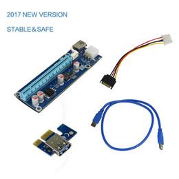 cable de extensión tipo b usb Rebajas Adaptador de tarjeta aceleradora Express PCI-E USB 3.0 Cable de alimentación SATA 6Pin Extensor de 1x a 16x