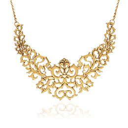 Wholesale Neon Flowers - Wholesale- 2016 Summer Style Gold Sliver plated Hollow Flower Collar Choke Chain Neon Bib Necklace charms jewelry For Women