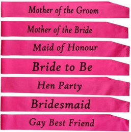 Wholesale Bridal Shower Gifts Bride - Hen party bride to be sash Bridal Shower Wedding Hen Night Party Decorations Party Favors Accessories Shabby Chic Classy Gift