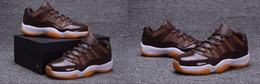 Wholesale aa basketball - WholesaleAir 11 XI Low Chocolate Brown White Man Women Athletics Basketball Shoes AA High Quality Size USA 5.5 13 Sneaker