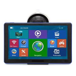 mapa de china mp3 Rebajas HD 7 pulgadas Coche Bluetooth Camión GPS Navegación MP3 / MP4 Transmisor FM AVIN RAM 256MB 8GB Mapas en 3D