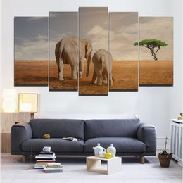 Wholesale Elephant Painting Tree - Tree of Hope for The Elephant Abstract Oil Painting In Home DecorationFrameless Paintings(No Frame)Printd on Canvas Wall Art HD Print P