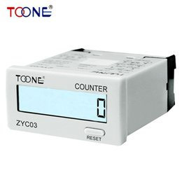 Wholesale Power Supply Electronics - Wholesale- ZYC03 8-digital LCD Digital Display Counters Electronic Cumulative Counter No external power supply