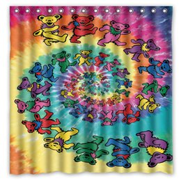 Wholesale Hot Items Europe - Wholesale- Novelty Item!Hot Band&Grateful Dead Background Printed Waterproof Polyester Shower&Bath Curtain( 180X180CM)