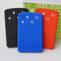 protector de la carpeta de la piel de la caja de la tapa del fob del caucho de silicona para Mazda 5 6 8 M8 CX-7 CX-9 entrada remota sin llave de la tarjeta inteligente de la CX-4 4 botones desde fabricantes