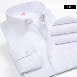 Wholesale Wholesalers For Formal Shirts - Wholesale- New Arrival Brand Men's Fashion Clothes Mens Solid Color Turn-Down Collar Formal Shirts Men's Long Sleeve Dress Shirts For Men