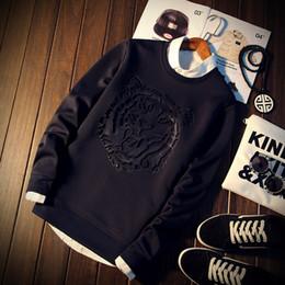 Wholesale Highest Quality Hoodie - Wholesale-2016 New fashion men hoodies print tiger head hoodies tracksuits high quality Harajuku sweatshirt mens Sudaderas Hombre