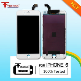Wholesale Iphone Touch Screen Oem - OEM white LCD Display+Touch Screen Digitizer Assembly Replacement for iPhone 6 Cold Frame Press 100% Tested