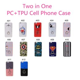 Wholesale Two Phones One Case - Two in One Cell Phone Case for iPhone 6 6S PC+TPU Back Cover with Ring Holder