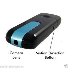 Wholesale High Quality Video Recorder - High Quality Mini DVR U8 USB DISK HD Hidden Spy Camera Motion Detector Video Recorder 720x480 Mini camcorders