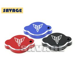 Wholesale Tank Covers For Motorcycles - For YAMAHA MT09 MT-09 2014-2016 Motorcycle Accessories Radiator Caps Water Tank Cap Cover Blue Black Red