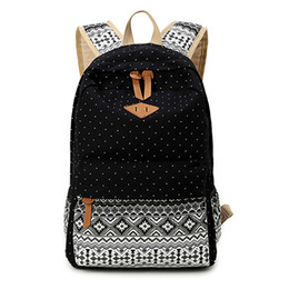 Wholesale Canvas Bagpack - Canvas Printing Backpack Women Cute School Backpacks for Teenage Girls Vintage Laptop Bag Rucksack Bagpack Female Schoolbag