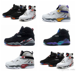 Wholesale Womens Sport Breathable Shoes - High Quality Retro 8 VIII Aqua Bugs Bunny Phoenix Playoffs Men Womens Basketball Shoes, Brand New Athletic Sport Sneakers Size US 5.5-13