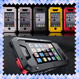 Wholesale Iphone Aluminum Rhinestone Case - Gorilla Aluminum Cellphone Case Dirt-proof Waterproof Shockproof Protective Cover for iPhone SE 5 5s 5c 6 6s 7 Plus