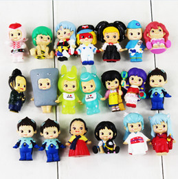 Wholesale Little Peoples Toys - DHL 3-3.5cm 20pcs set Little People PVC Action Figure Collectable Model Toy for kids free shipping