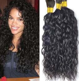Wholesale Braided Water - Wholesale-8A Grade Water Wave Bulk Hair Unprocessed Human Braiding Hair Bulk Wavy Brazilian Human Hair For Braiding Bulk No Attachment