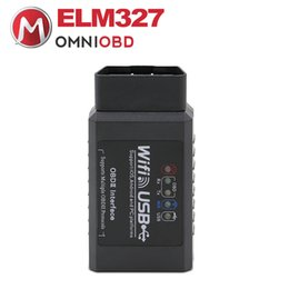 Wholesale Usb Elm 327 For Android - ELM327 WIFI USB ELM327 WIFI+USB OBD Scanner Diagnostic Tool ELM 327 Wifi OBD ii Support Android  for IPHONE IPAD IPOD